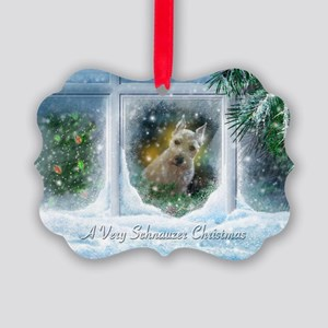 """Schnauzer Christmas"" Picture Ornament20 pack)"