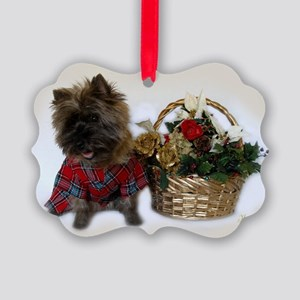 Cairn Terrier Picture Ornament