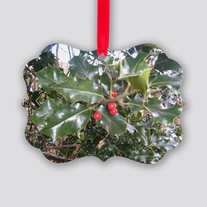 Holly Picture Ornament