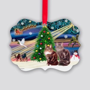 Magic / Maine Coon Picture Ornament