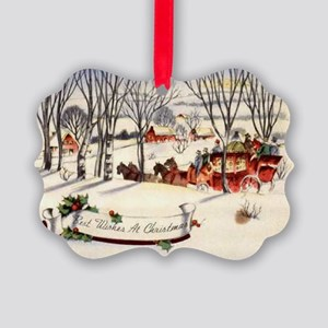 Country Christmas Picture Ornament
