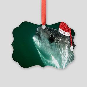 Ho Ho Ho Whale Shark Picture Ornament