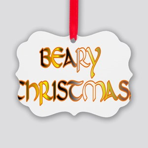 BEARY CHRISTMAS PRIDE COLORS Picture Ornament 20PK