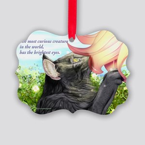 With love curious NFO Picture Ornament
