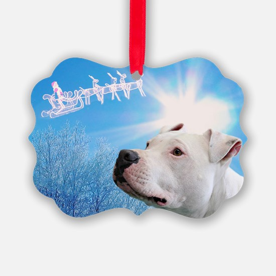 Cute Pit bull christmas Ornament