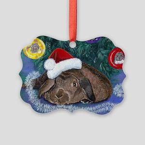 Solomon Rabbit Christmas Picture Ornament