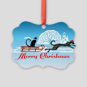 Christmas Pet Parade Picture Ornament