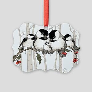 Chickadee Family Picture Ornament