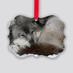 Busted Wolf Picture Ornament