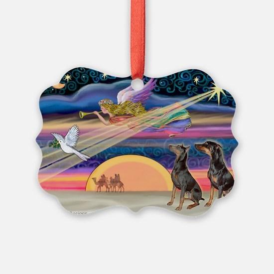 XmasStar/2 Dobies Ornament