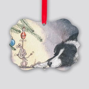 Peace on earth and goodwill t Picture Ornament