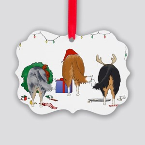 Rough Collie Picture Ornament