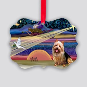 Xmas Star Aussie Terrier Picture Ornament