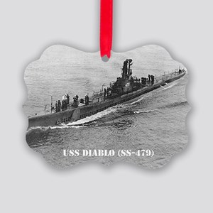 USS DIABLO Picture Ornament