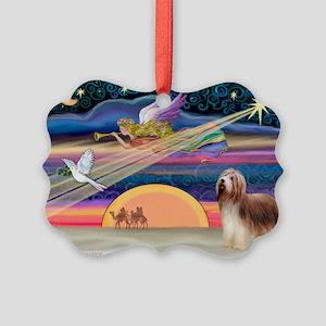 XmasStar/Beardie(brn) Picture Ornament(Pk of 20)