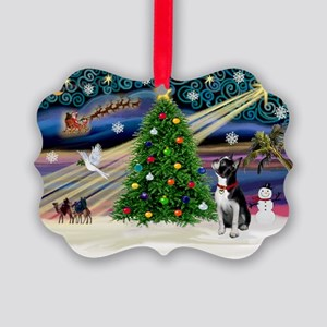 XmasMagic Boston Terrier Picture Ornament(Pk of 20