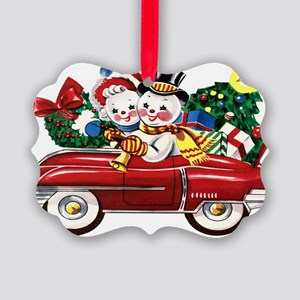 Vintage Style Christmas Picture Ornament