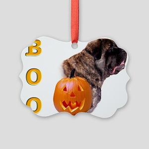 Boo Fluffy Picture Ornament