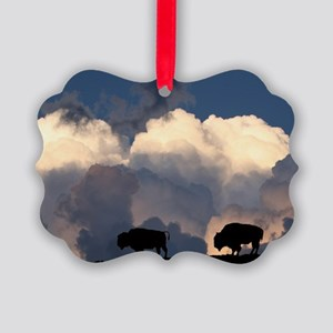 Bison Island Picture Ornament