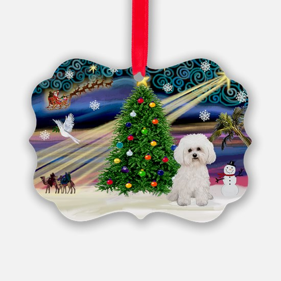 Xmas Magic/Bichon #2 Ornament