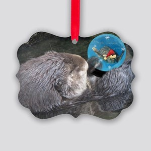 sea otter in Picture Ornament
