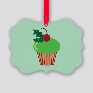 Christmas Cupcake Picture Ornament