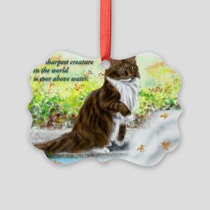 Wonderful sharp skogkatt Picture Ornament