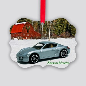 Silver Toy Car Picture Ornament