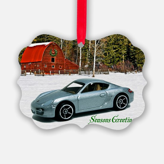 Silver Toy Car Ornament