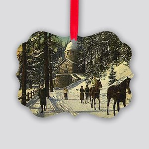 Vintage Christmas Picture Ornament