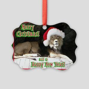 Helaine's Lion Xmas Picture Ornament