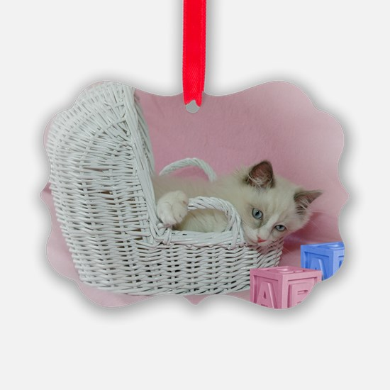 Fur Baby Ragdoll Cat Ornament (Pk of 20)