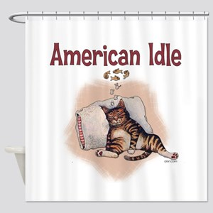 American idle Shower Curtain
