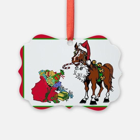Santa's Helper Horse Ornament