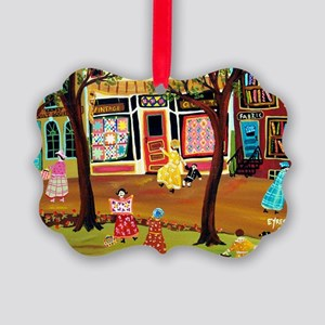 FASHIONABLE QUILT DISTRICT Picture Ornament