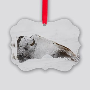 Old Man Winter Picture Ornament
