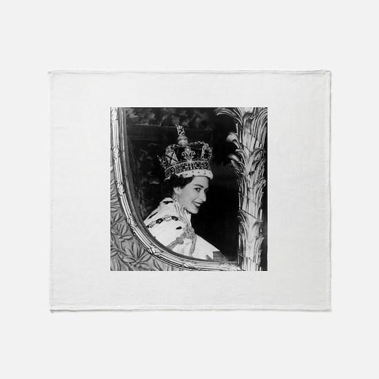 Oldskool Queen Elizabeth Throw Blanket