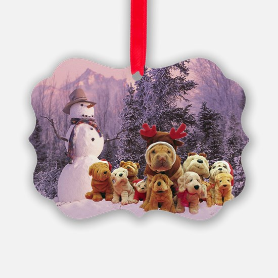 Snowman Shar Pei Ornament