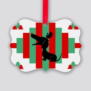 Dachshund Christmas Picture Ornament