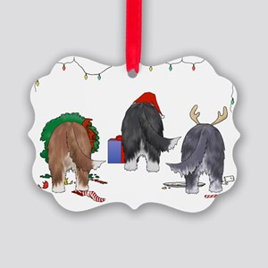 Bearded Collie Christmas Picture Ornament