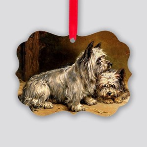TWO TERRIERS Picture Ornament