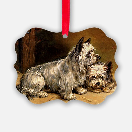 TWO TERRIERS Ornament