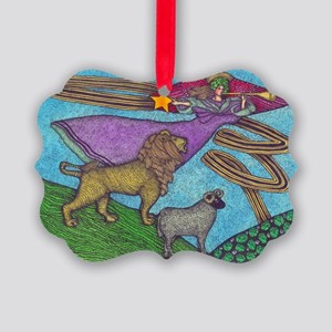 The Lion and The Lamb Picture Ornament