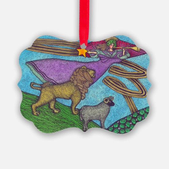 The Lion and The Lamb Ornament