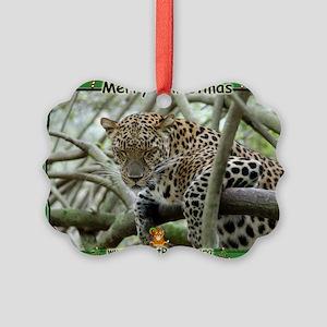 #004 Leopard Christmas Picture Ornament