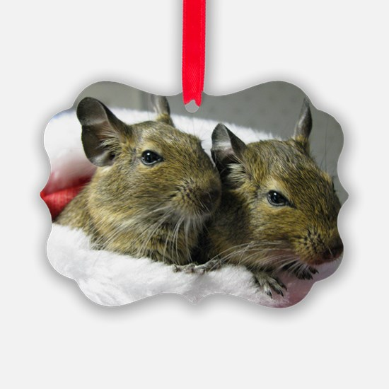 DEGUS in Christmas Stocking Ornament