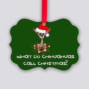 Chihuahua Dog Christmas Picture Ornament