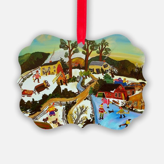 Vintage Holiday Winter Ornament
