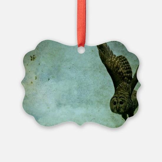 Barred Owl In Flight Ornament