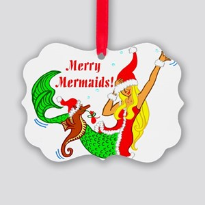 Save the Mermaids Picture Ornament